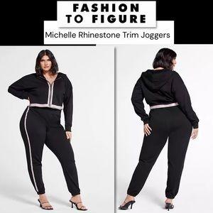 Fashion To Figure Michelle Rhinestone Joggers 3X